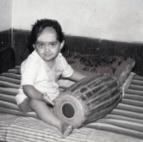 A 3 Year Old ME with My Favourite Instrument