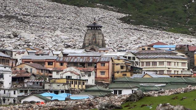 Figure 3: Photograph of Kedarnath Temple in 2013 (courtesy: The Hindu)