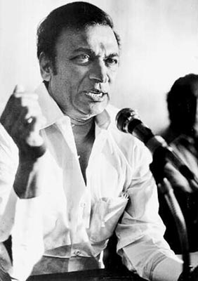 Rajkumar during Gokak agitation (1980s)